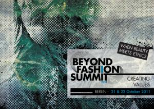 beyond fashion summit 2011 visual